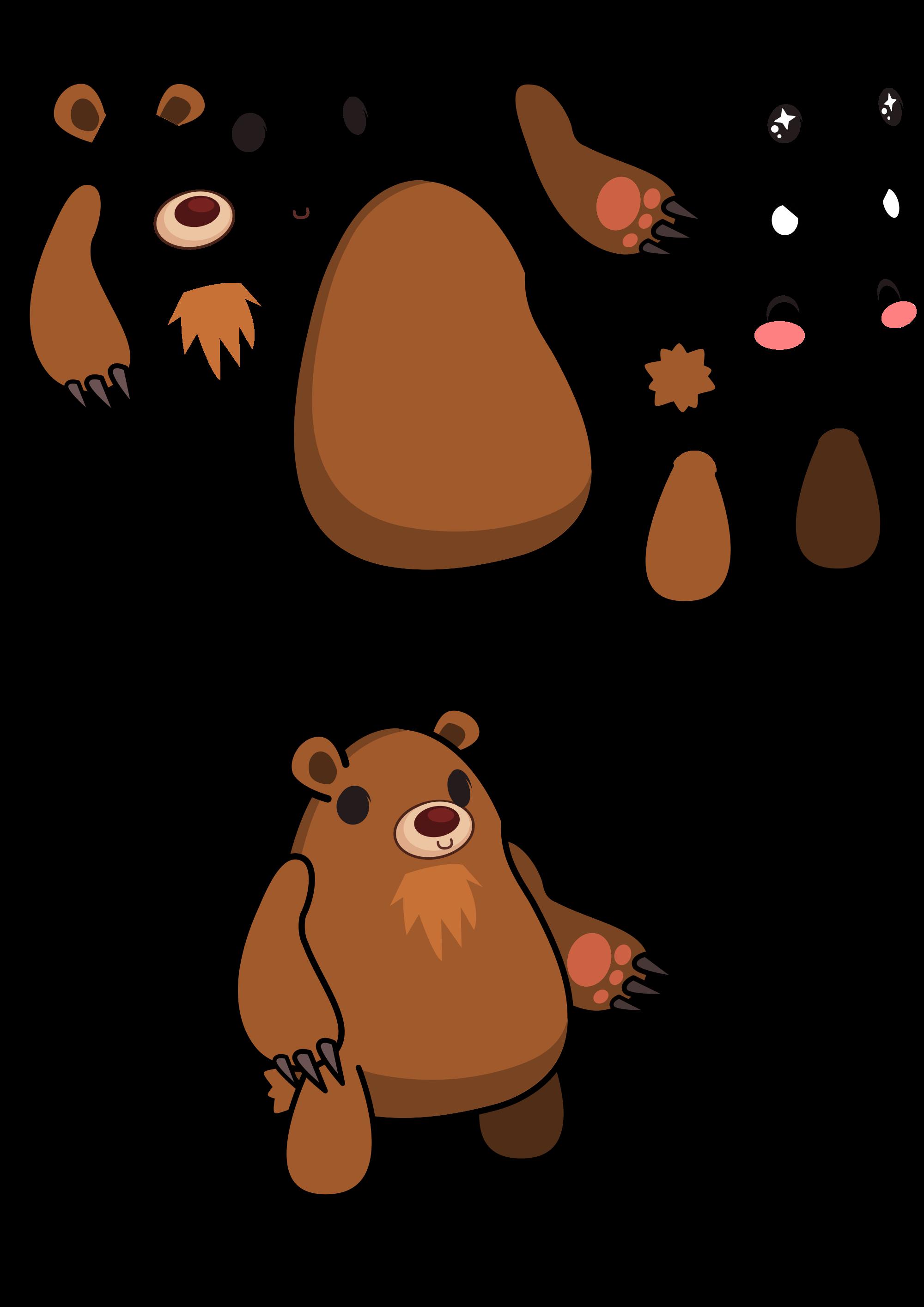 Groundhog clipart svg. File inkscape bear puppet