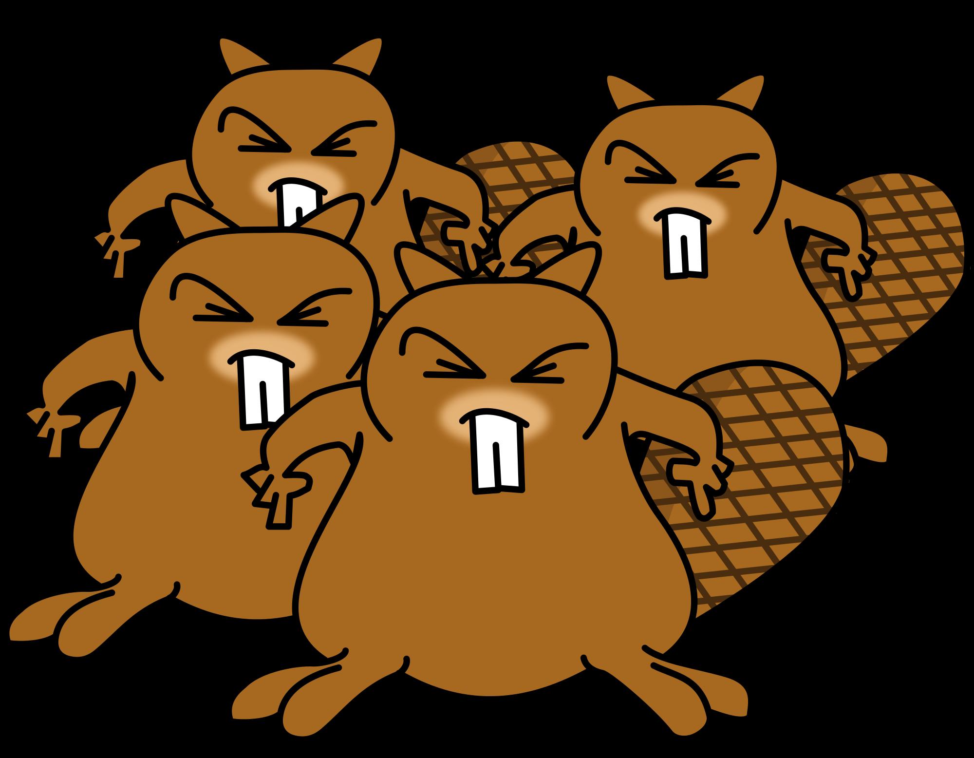 Groundhog clipart svg. File les castors furieux