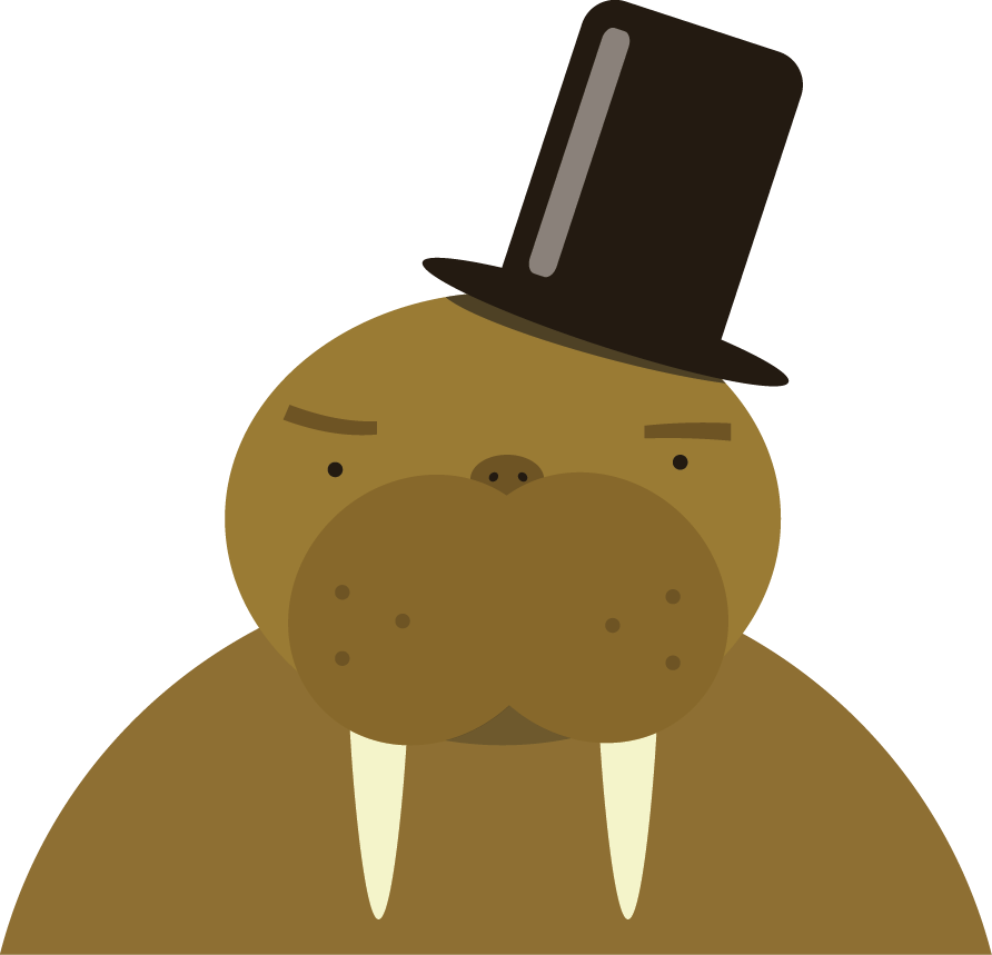 Never give your a. Walrus clipart vector