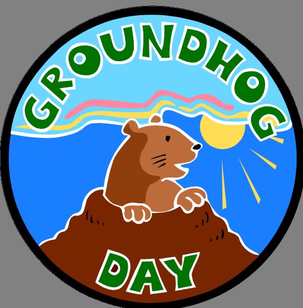 Happy day one book. Groundhog clipart underground animal