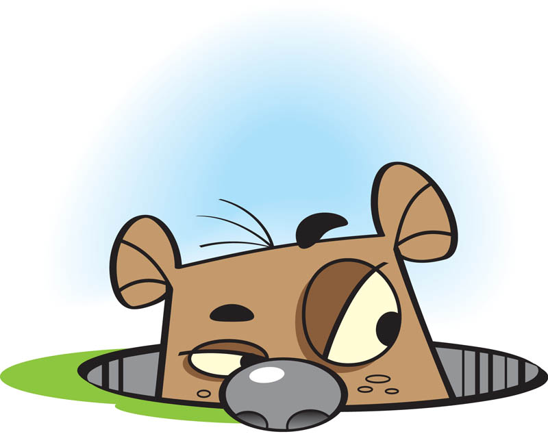 Groundhog clipart vector. Day sign clip art