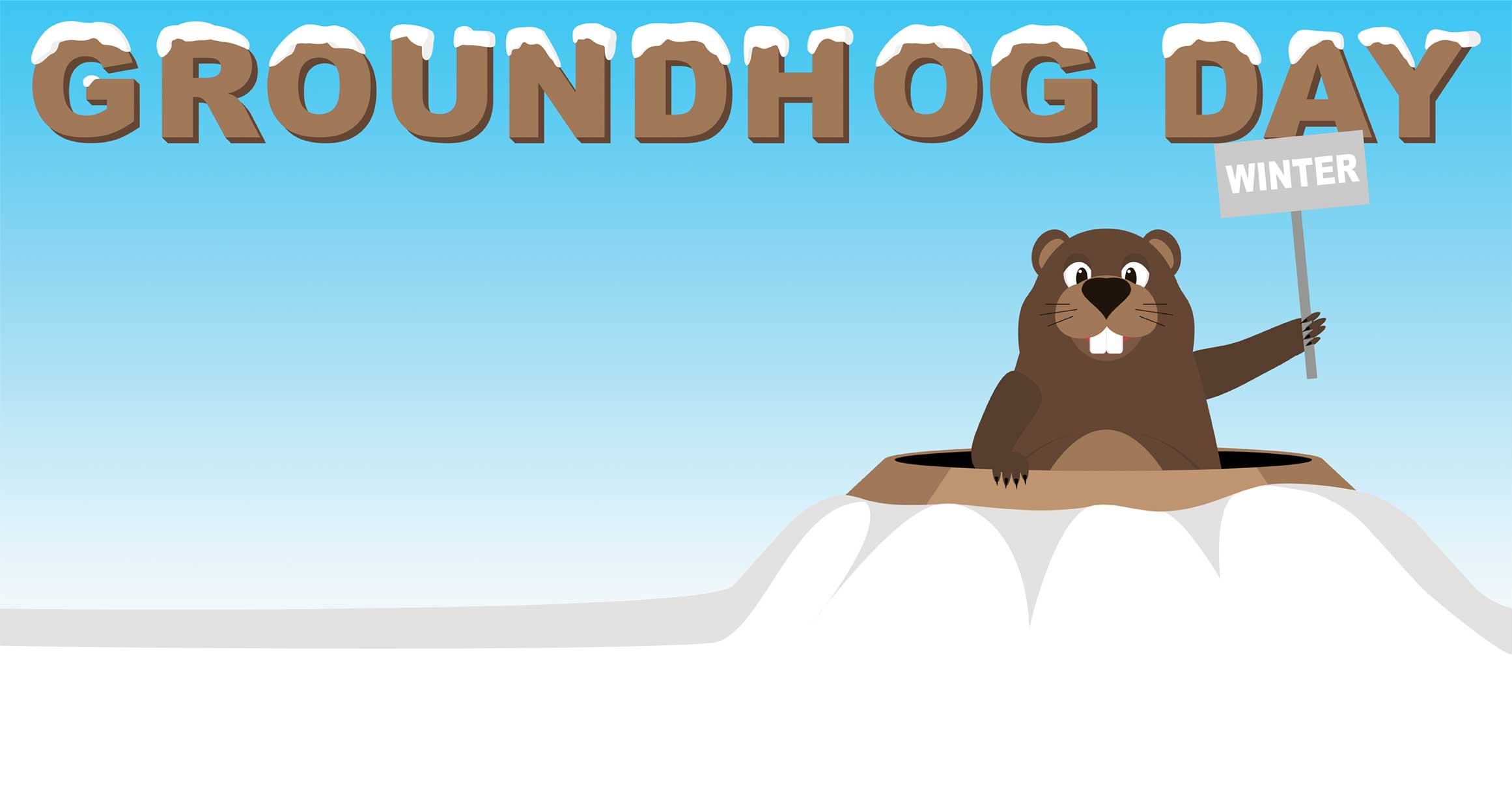 Cliparts zone . Groundhog clipart winter