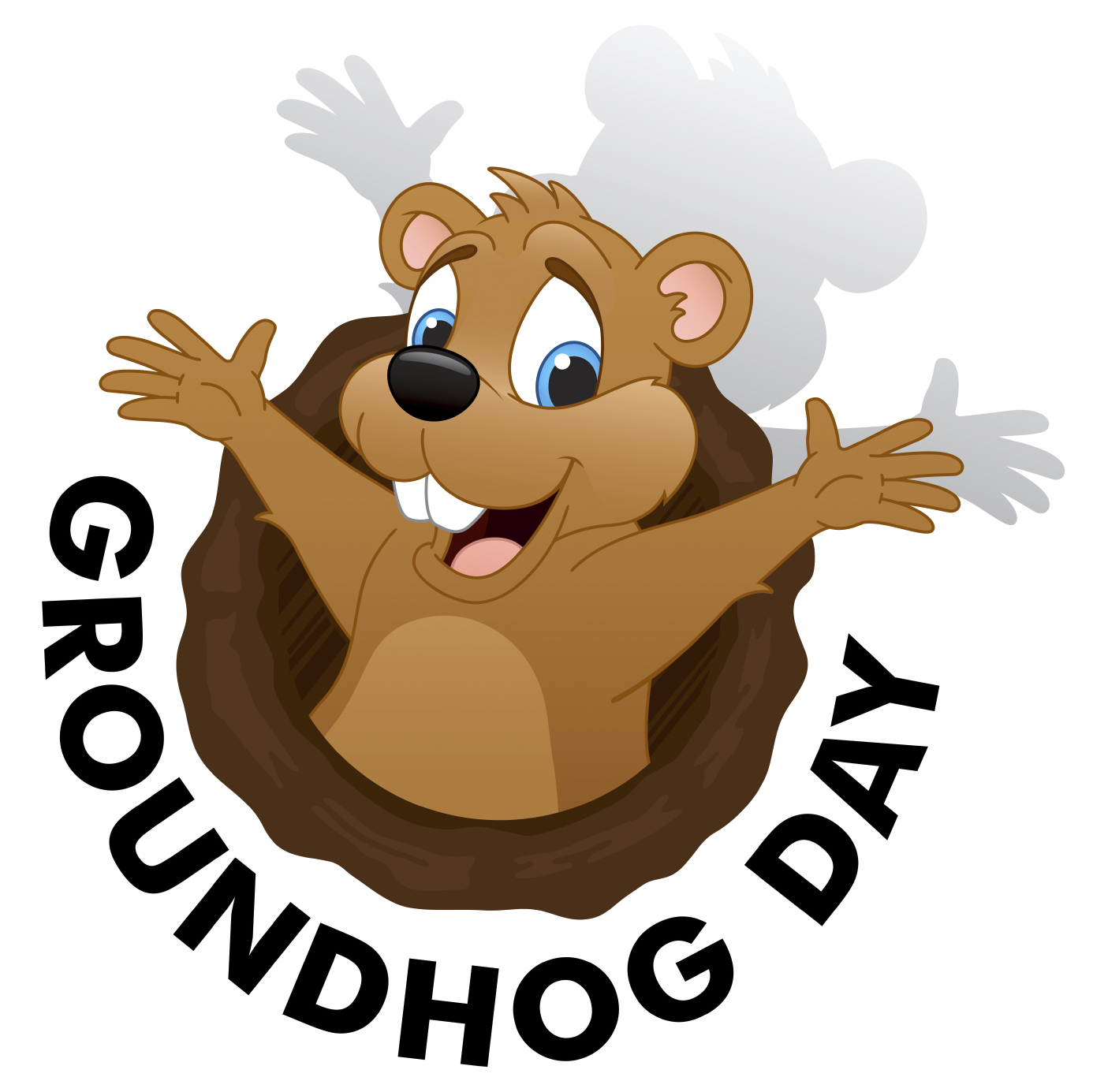 Groundhog clipart winter. Day pencil and in