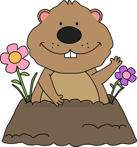 Clip art images spring. 2018 clipart groundhog day