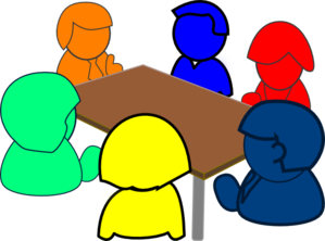Group clipart. At table