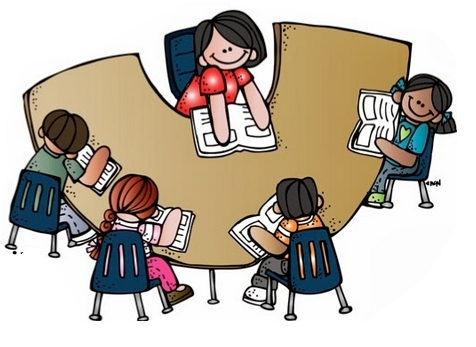 Reading writings and essays. Group clipart