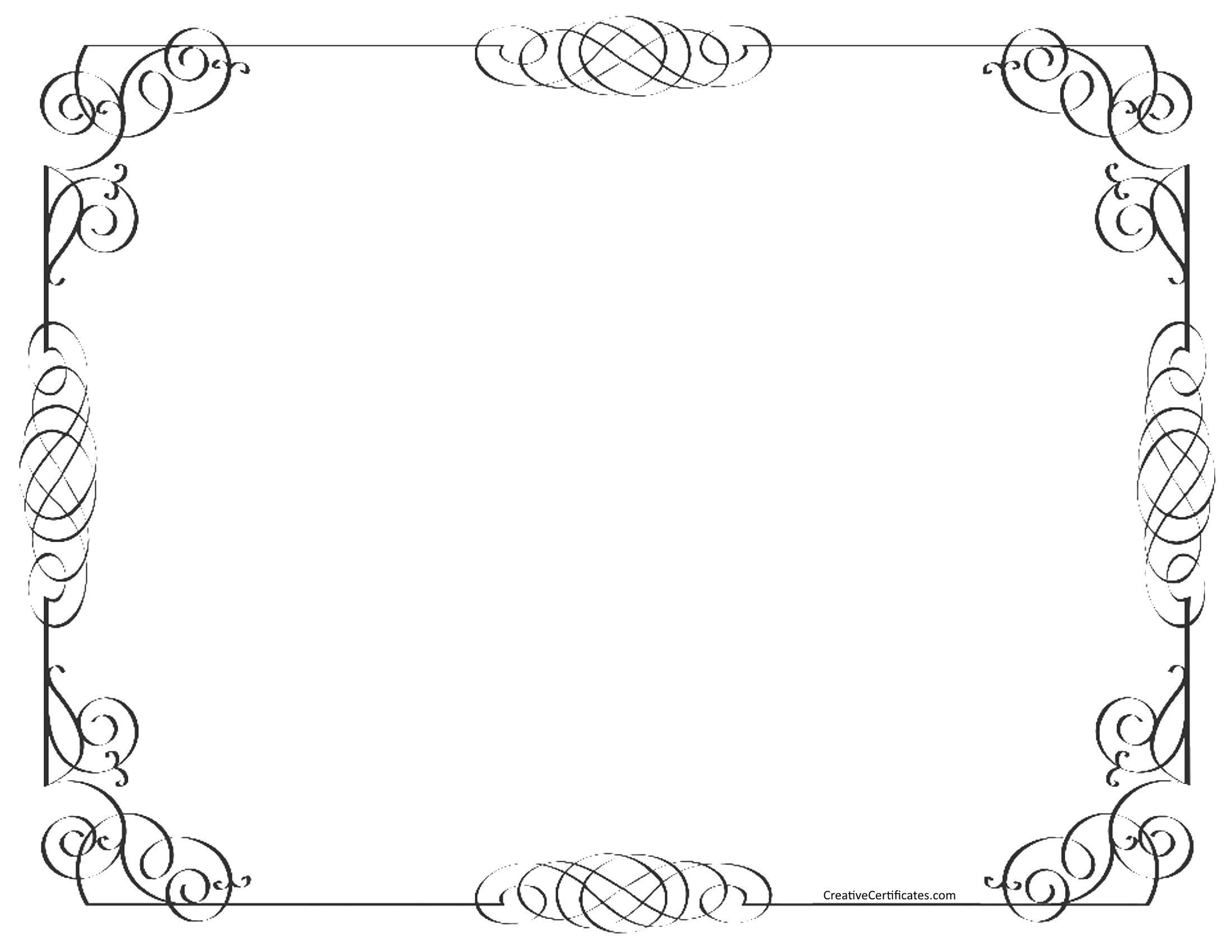 Ornate border png. Black and white group