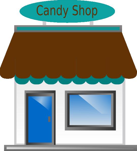 Shop front clip art. Group clipart candy