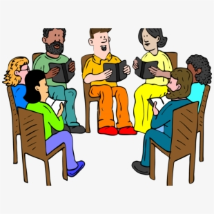 Reading cliparts transparent . Group clipart cartoon