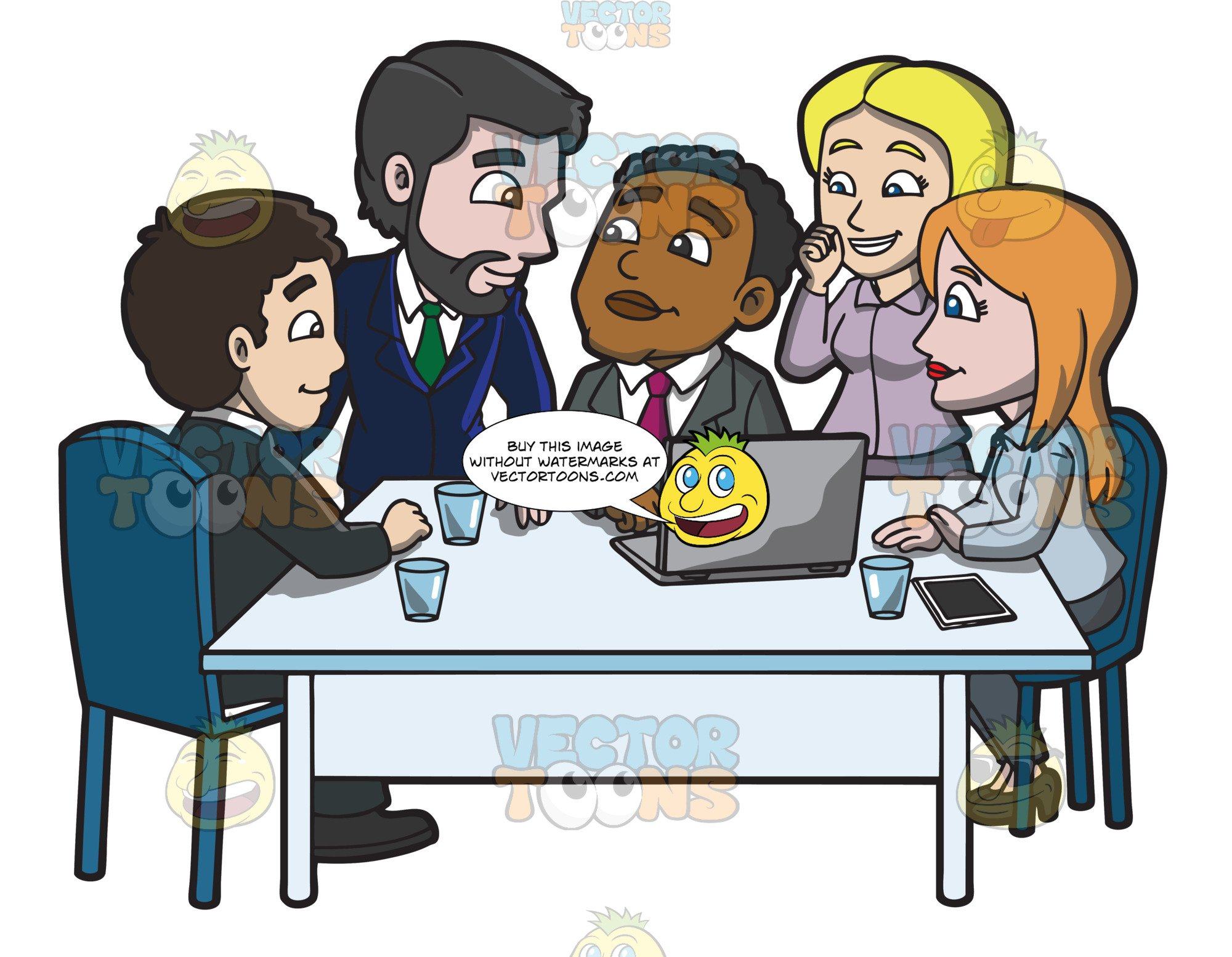 Group clipart group project. A of workers discussing