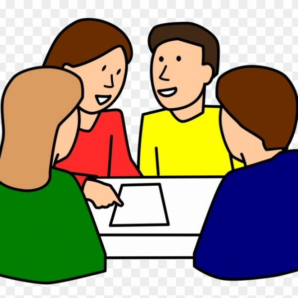 Student students in groups. Working clipart group work