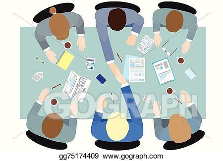 Eps illustration business people. Handshake clipart group
