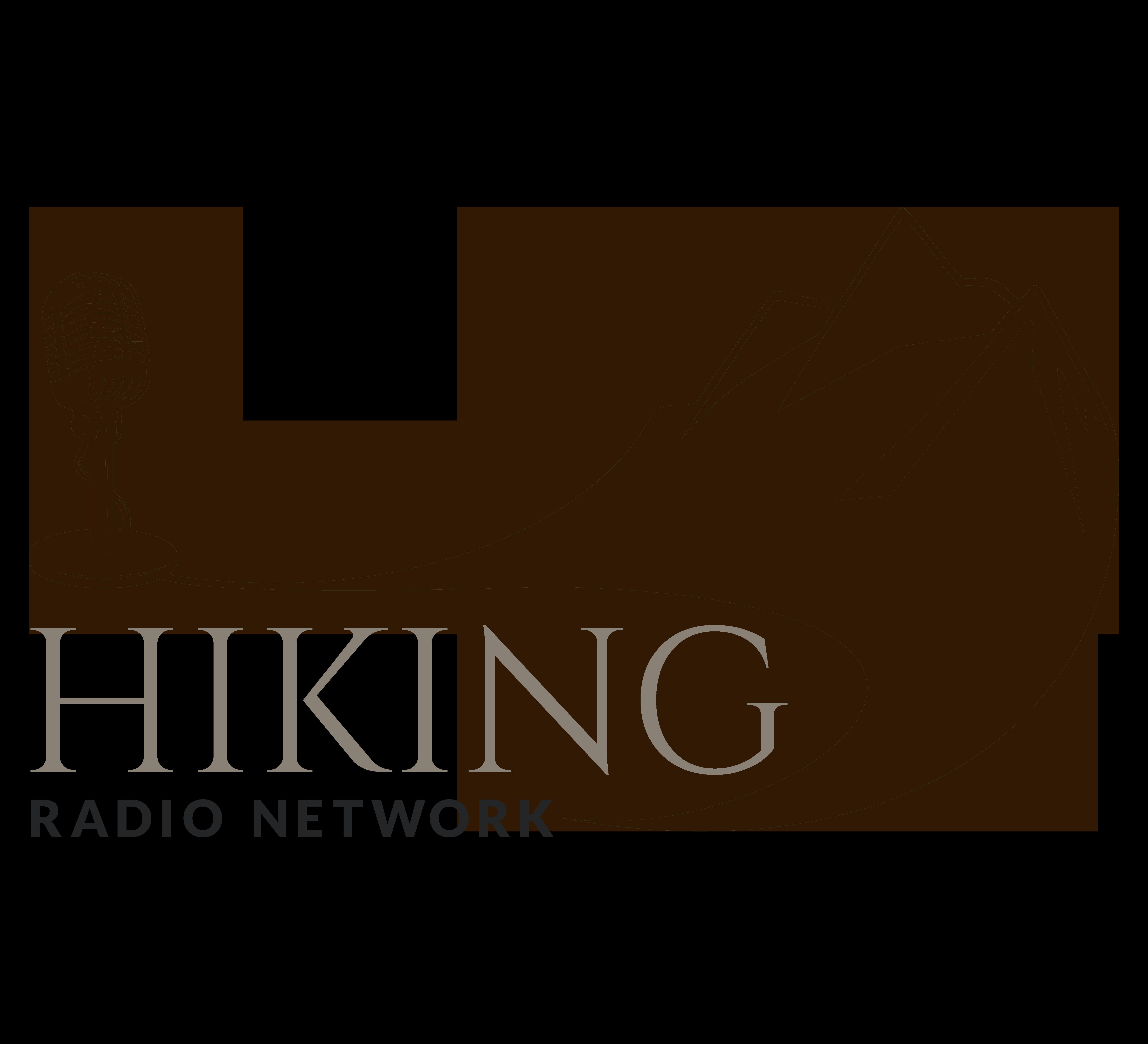 Hiking radio network talking. Hike clipart walking group