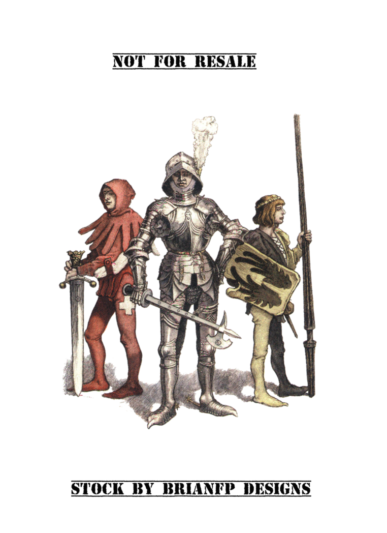 Medieval and squires group. Knight clipart squire