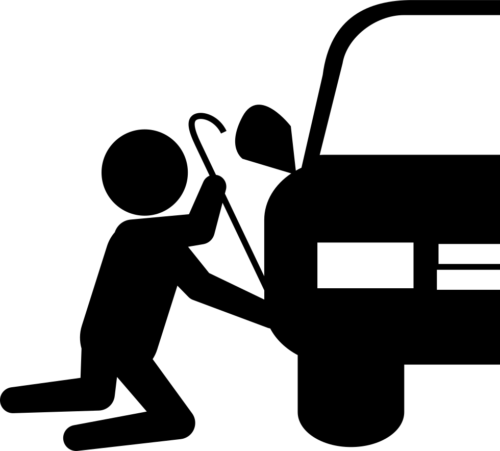 Silhouette trying to steal. Group clipart robber