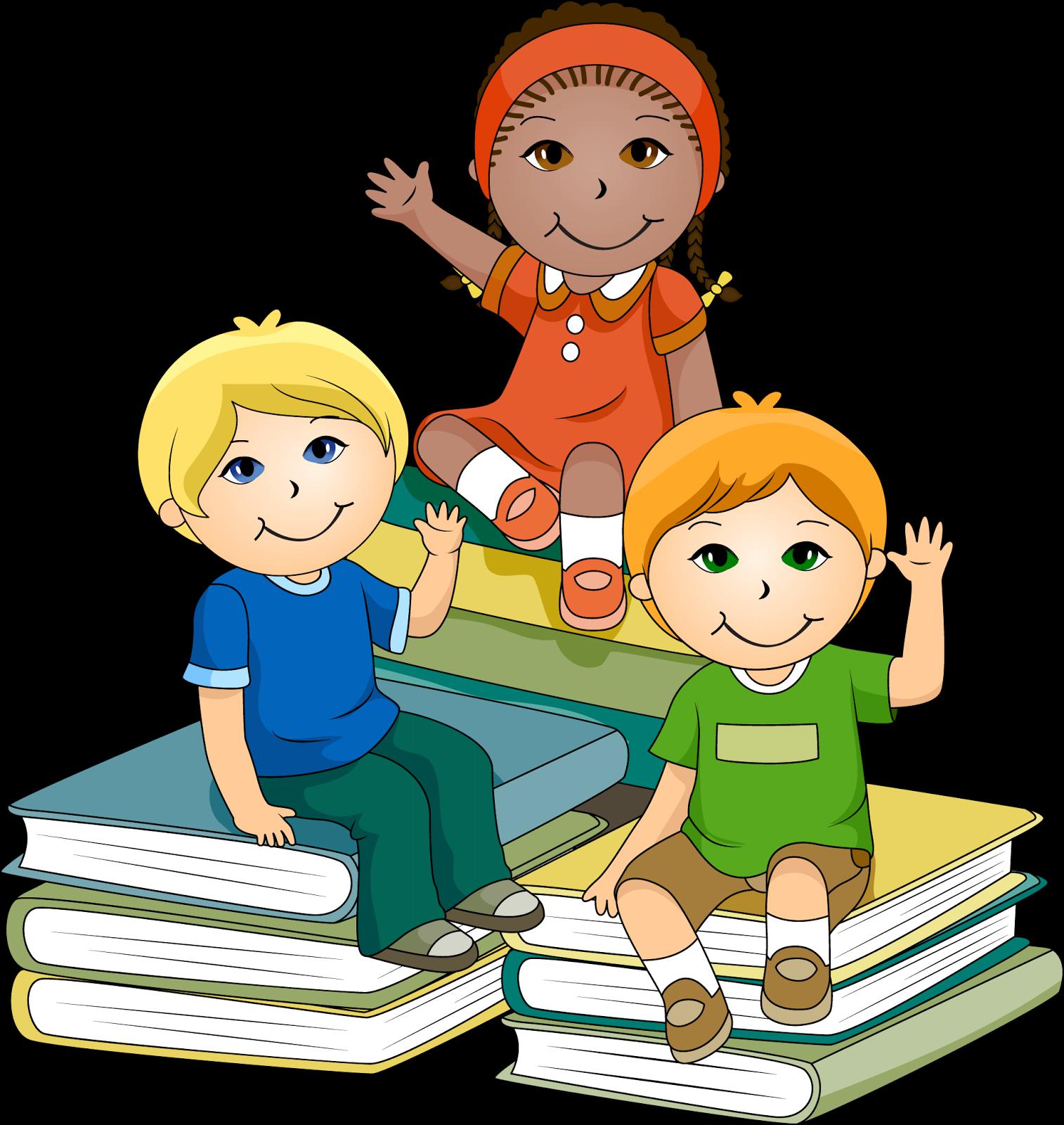 Children books that teach. Group clipart teacher