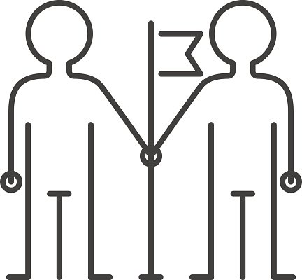 Community team friendship icon. Group clipart togetherness