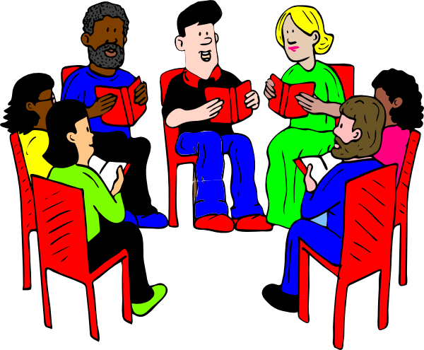 Group clipart. Of readers clip art