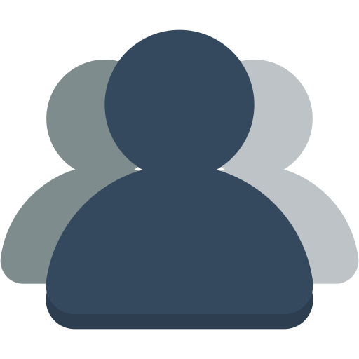 Group icon png. Small n flat by
