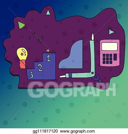Vector art illustrated set. Growth clipart career goal