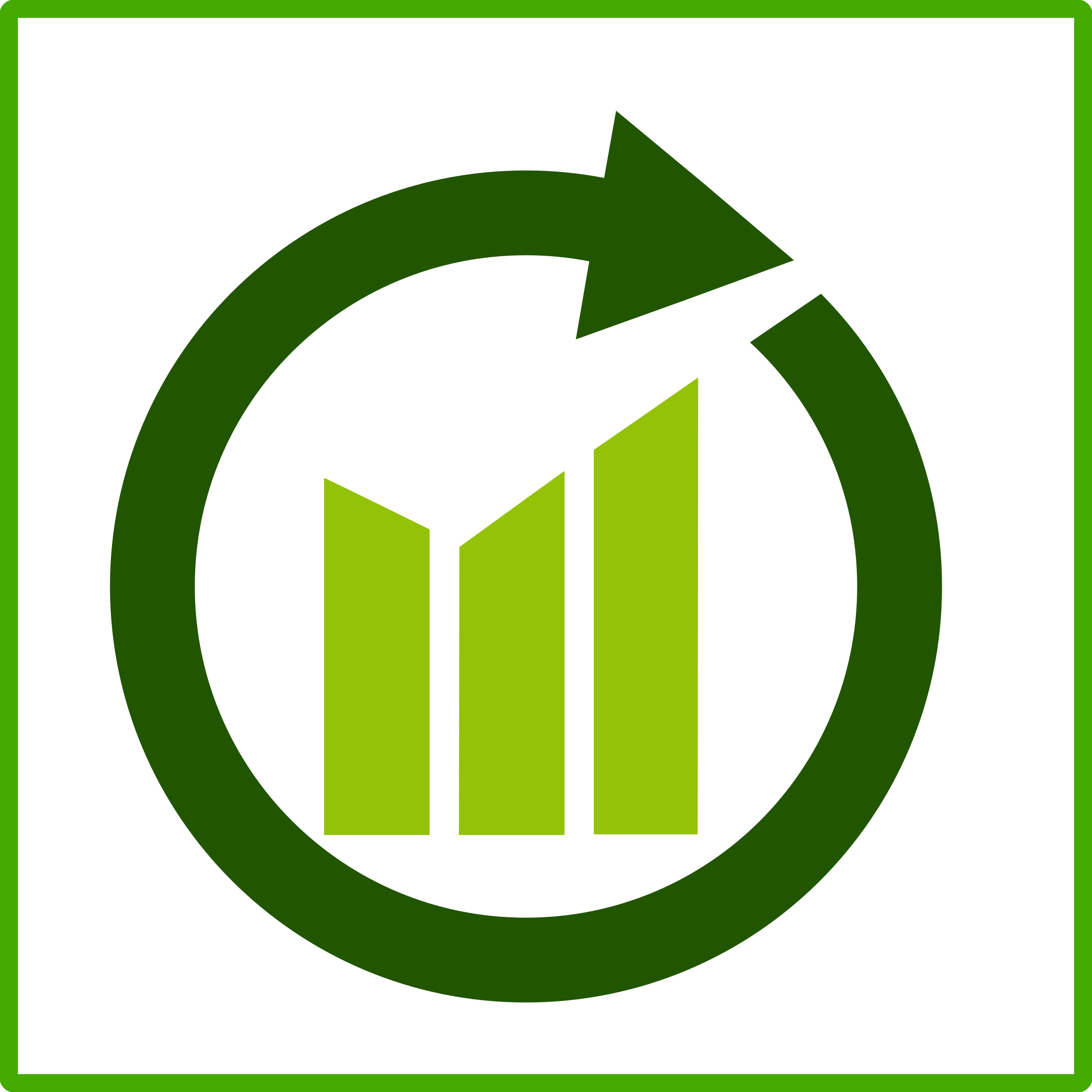 Growth clipart growth chart. Eco green icon big