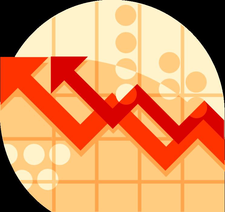 Growth clipart growth chart. Data analysis arrows vector