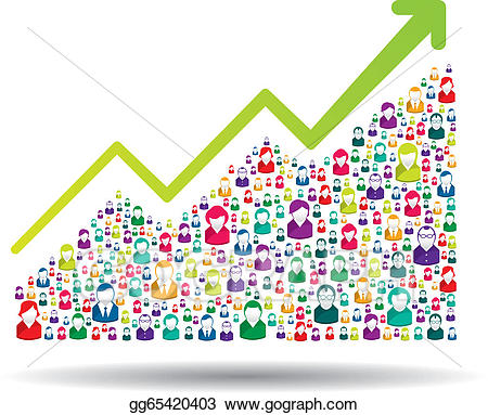 Clip art vector stock. Growth clipart growth chart