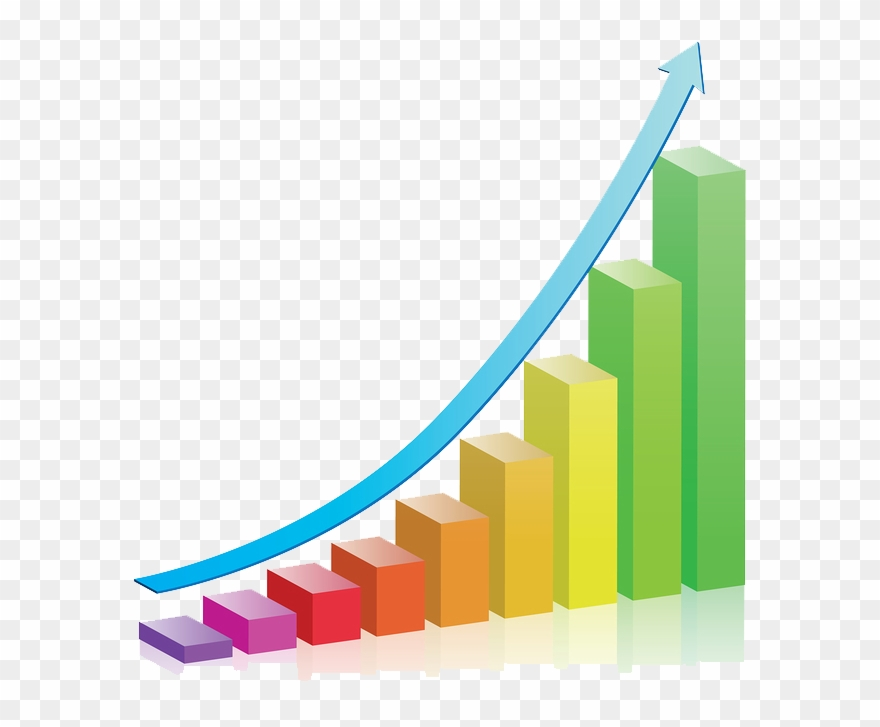 Business chart png transparent. Growth clipart growth graph