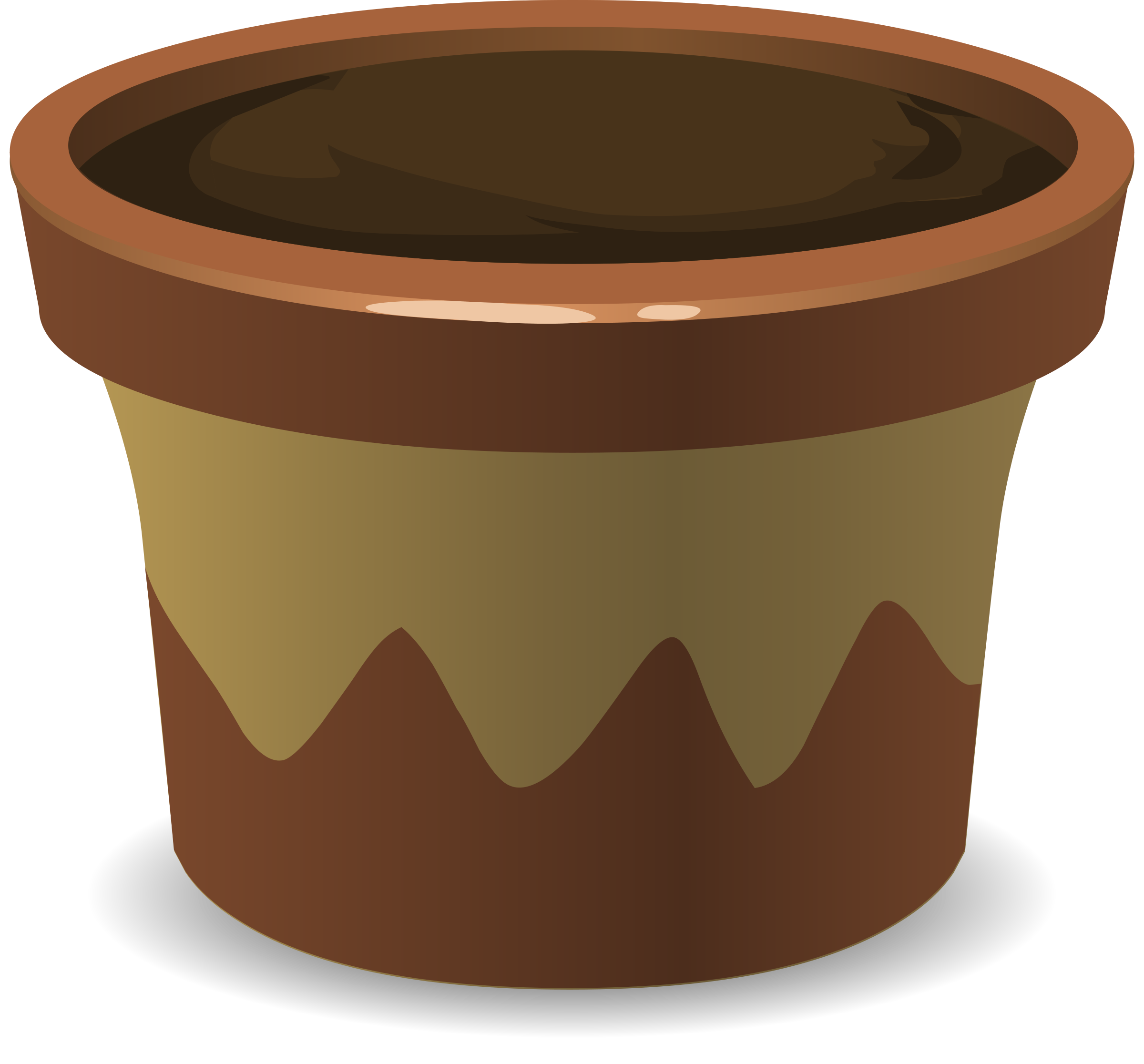 Pot from glitch icons. Growth clipart potted plant