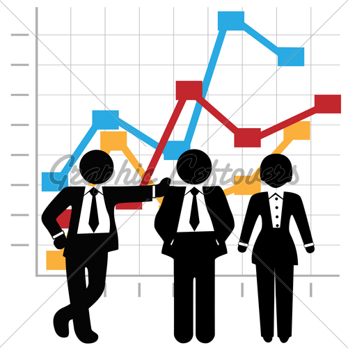 Growth clipart profit chart. Business people sales team