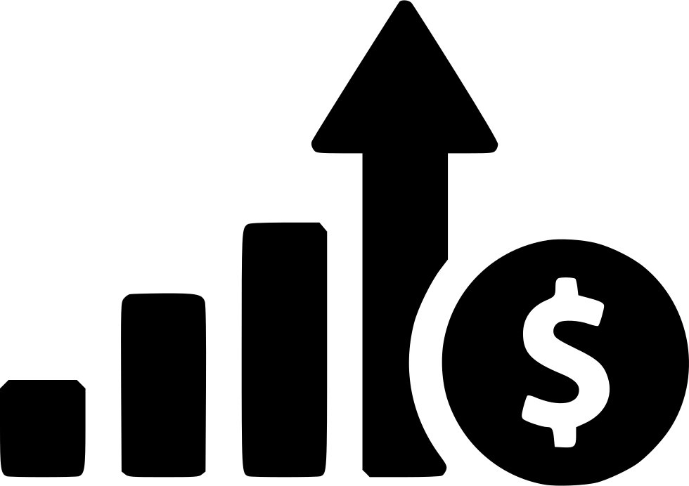 Growth clipart profit chart. Increase business svg png