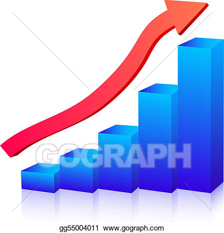 Growth clipart stock graph. Vector illustration business clip