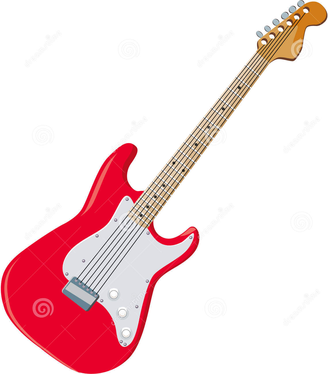 Guitar clipart. Red