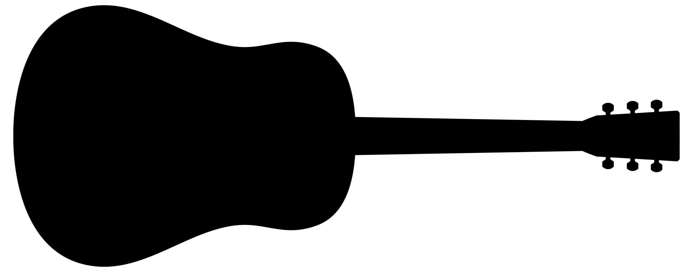 Guitar clipart. Silhouette at getdrawings com