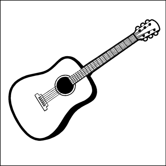 Acoustic drawing free to. Guitar clipart