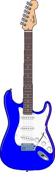 . Guitar clipart blue object