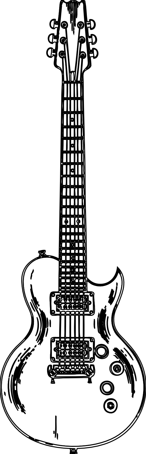 Free black and music. White clipart guitar