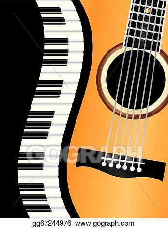 Clip art vector wavy. Piano clipart piano guitar