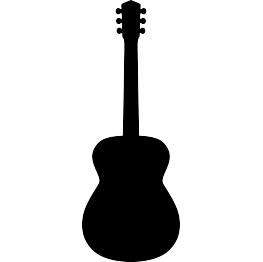 Guitar clipart handle. Free svg acoustic silhouette