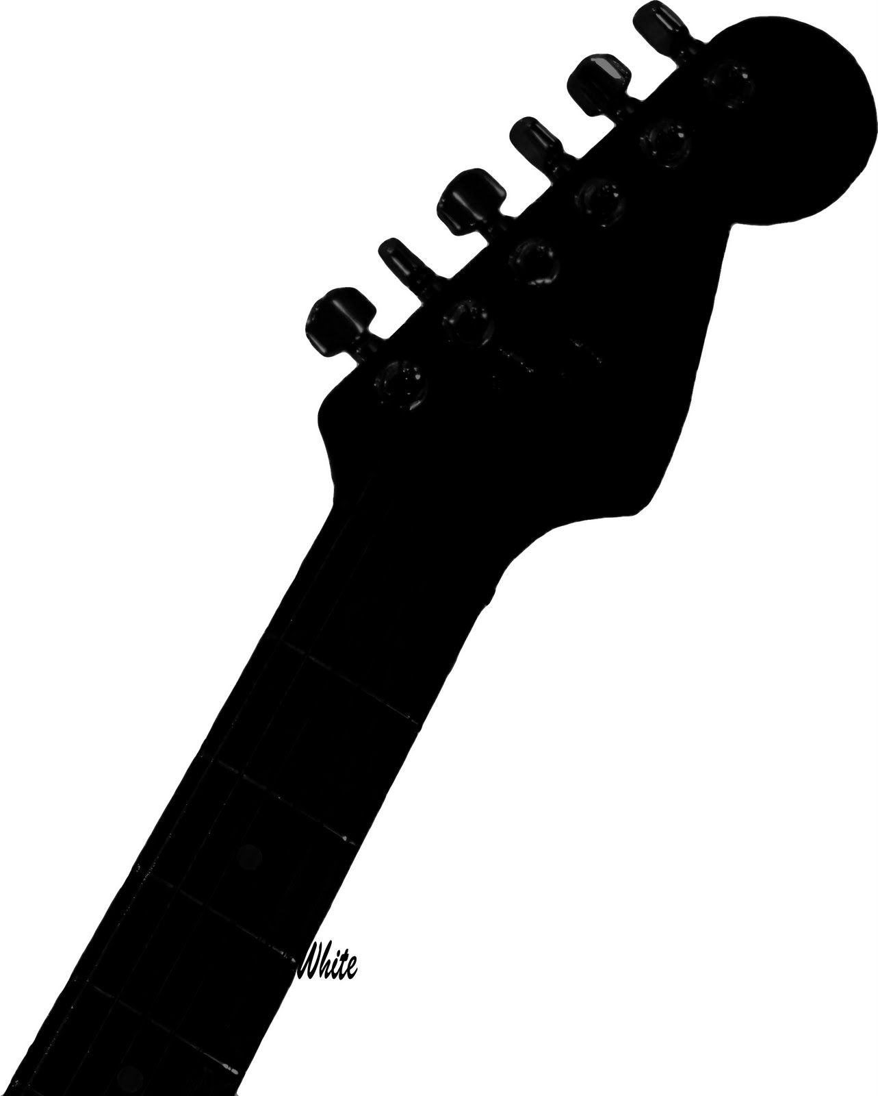 Guitar clipart handle. Acoustic silhouette vector free