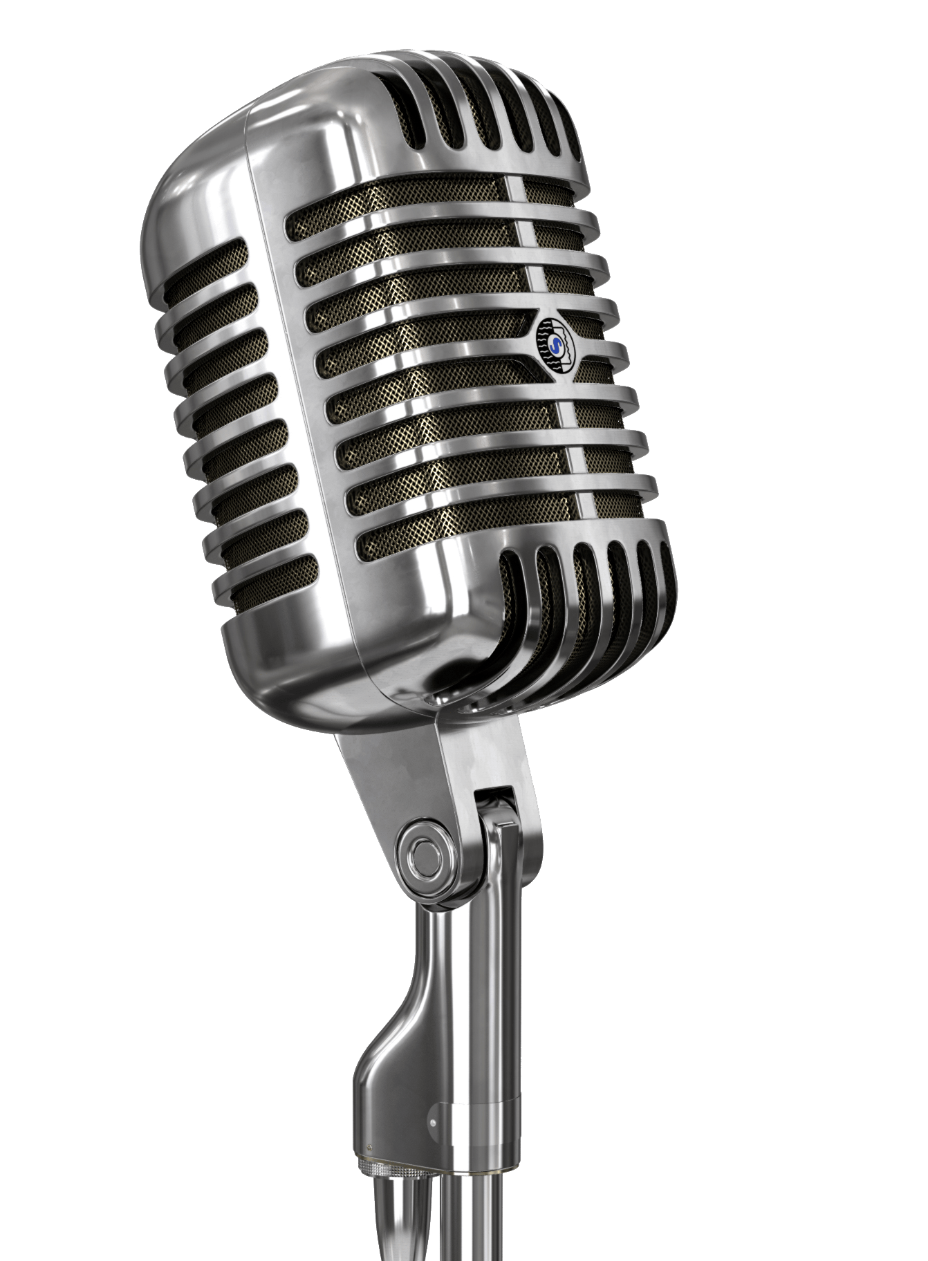 Vintage and stand mic. Microphone clipart announcement
