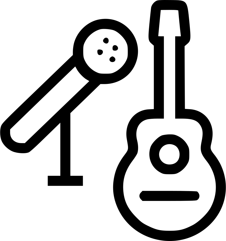 And mic svg png. Guitar clipart microphone