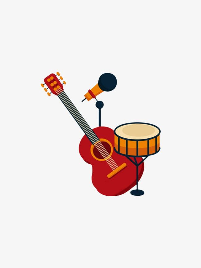 And png drums . Guitar clipart microphone
