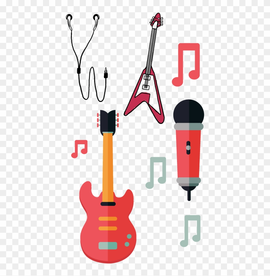 Music png download . Guitar clipart microphone
