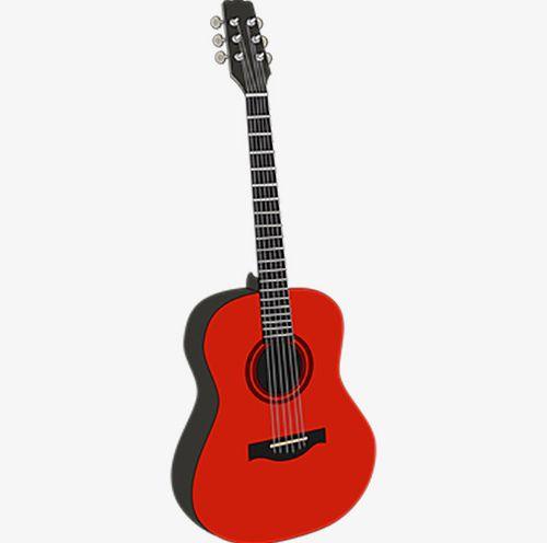 Png folk . Guitar clipart red guitar