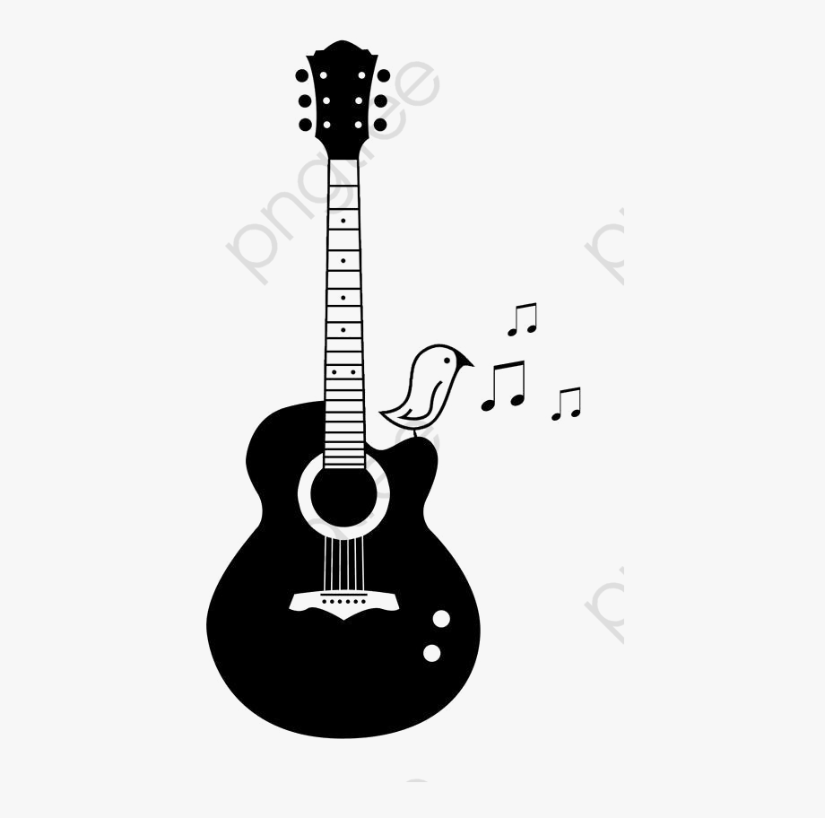 Tattoo drawing ideas . Guitar clipart simple