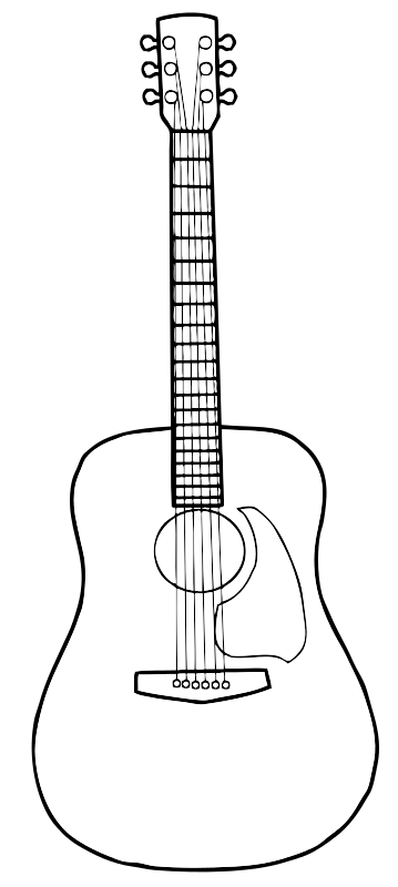 Free clip art by. Guitar clipart simple