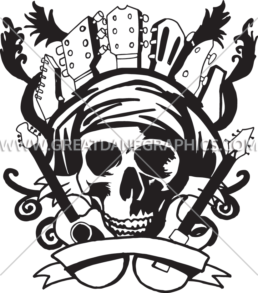 Guitar clipart skull. Guitars production ready artwork