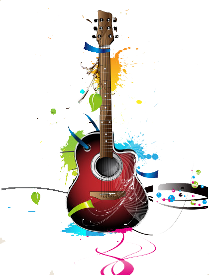 Guitar vector png. Psd official psds