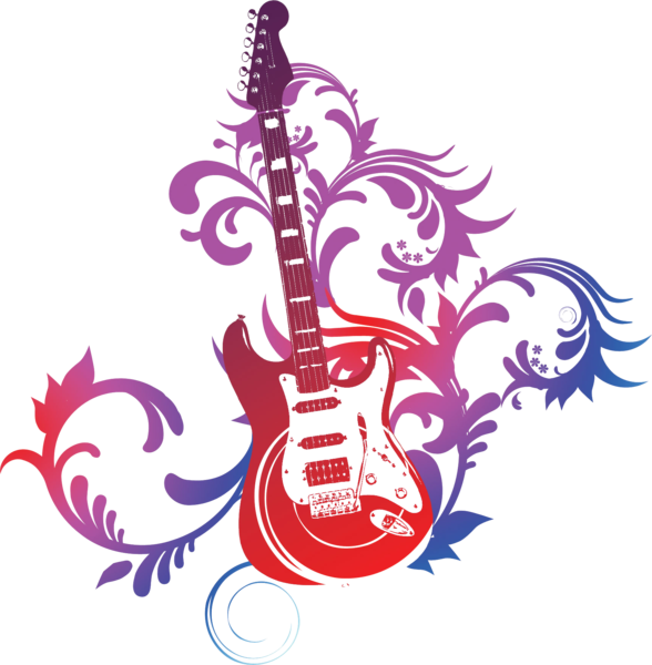 Psd official psds. Guitar vector png